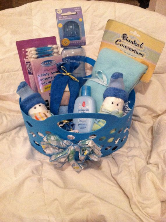 baby shower welcome baby blue gift basket for by