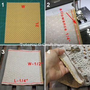 coser guarnición monedero