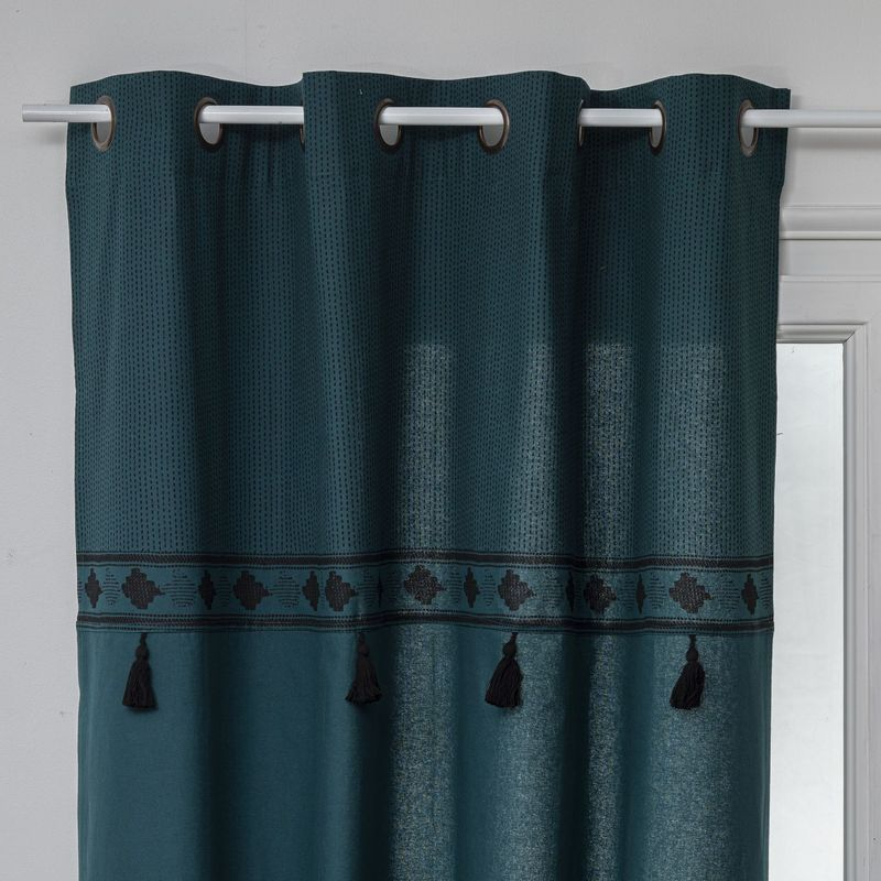 rideau impression pompons pop 140 x