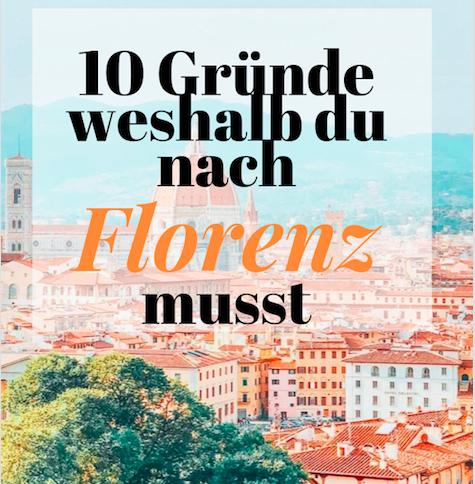 Florenz ist meine liebste Stadt in Italien und der perfekte Ort, um eine Entdeckungsreise durch die Toskana zu beginnen. Es ist ein Ort, wo der italienische Lebensstil und die Tradition gelebt wird und man diese auch hautnah erfahren kann. Es ist eine Stadt, in die du dich verlieben wirst.  Florenz ist nur eine Stunde entfernt von Pisa und 2.5 Stunden von Cinque Terre. #florenz #firenze #florenztipps #italien #cinqueterretipps