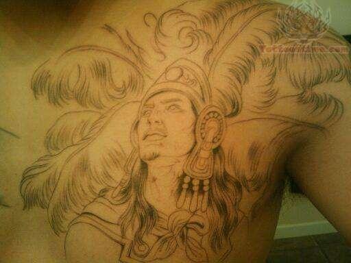 Aztec Warrior Tattoo On Chest Warrior Tattoos Aztec Warrior Tattoo Aztec Warrior
