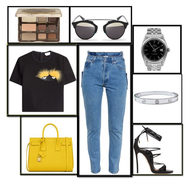 """""""High waisted jeans"""" by edennowoogrod ❤ liked on Polyvore"""