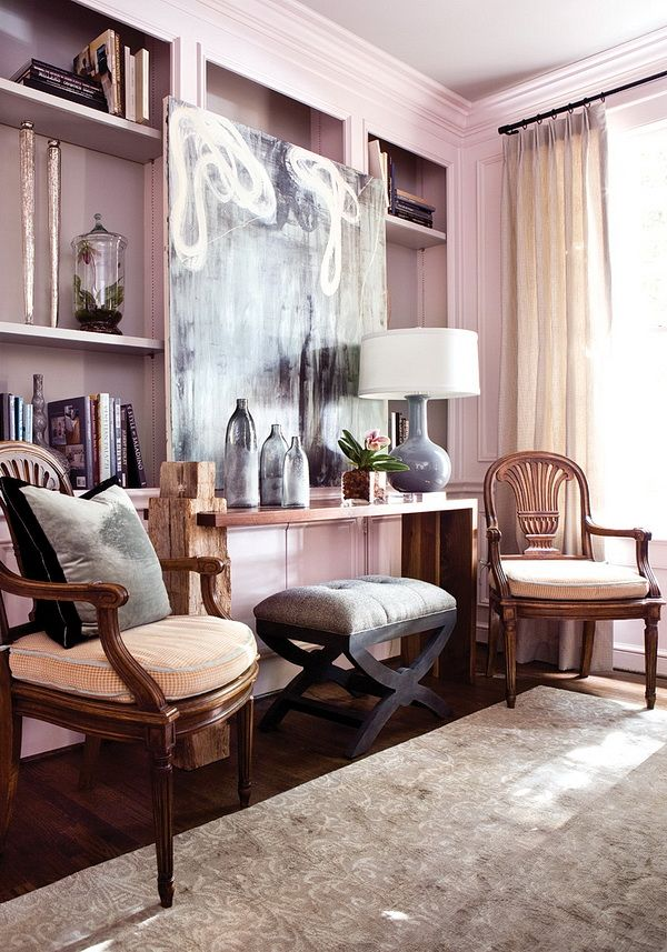 A well executed blush tone interior palette.