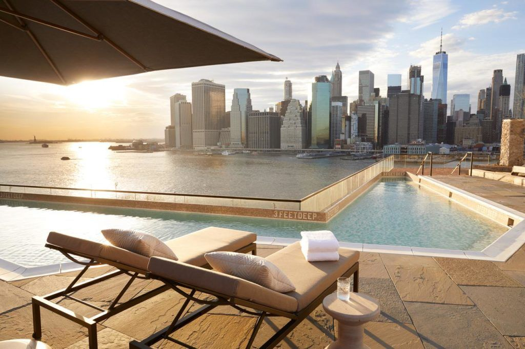 1 Hotel Brooklyn Bridge Brooklyn New York United States Rooftop Bars Nyc Nyc Rooftop Hotel Pool