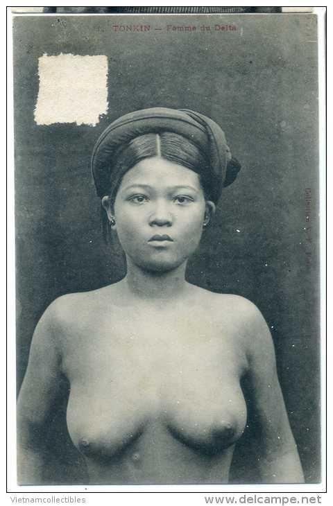 vintage postcard woman