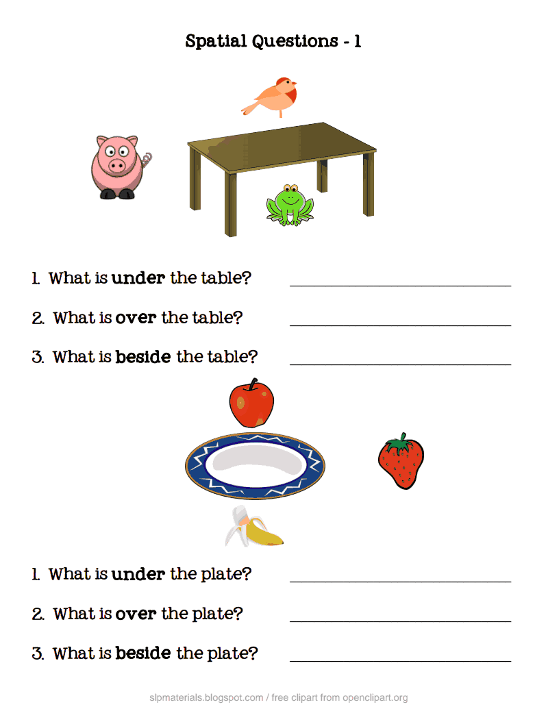 Spatial Questions Pdf Google Drive Work Sheets For
