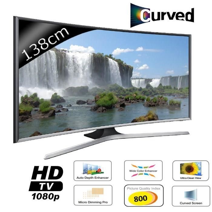 samsung ue55j6370 smart tv curved full hd 138cm pas cher prix promo tv incurv cdiscount. Black Bedroom Furniture Sets. Home Design Ideas