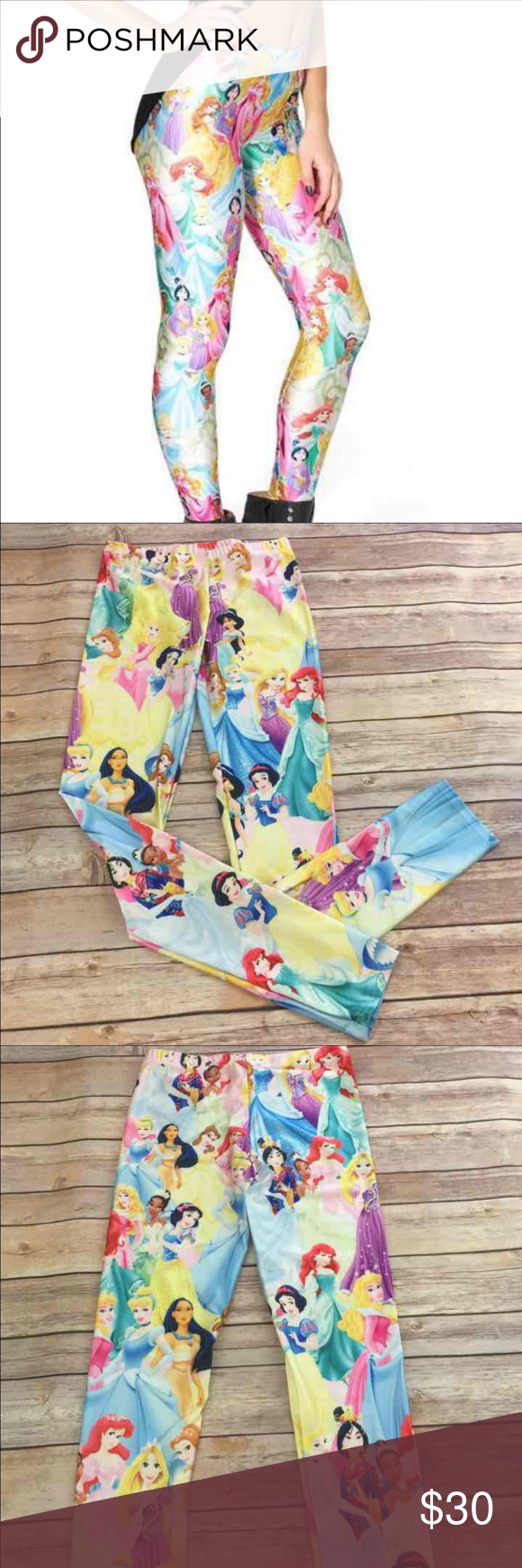 Disney Princess Leggings New without tags. Size medium. These are really stretchy. They don't become see through.  Disney lover must have! Pants Leggings
