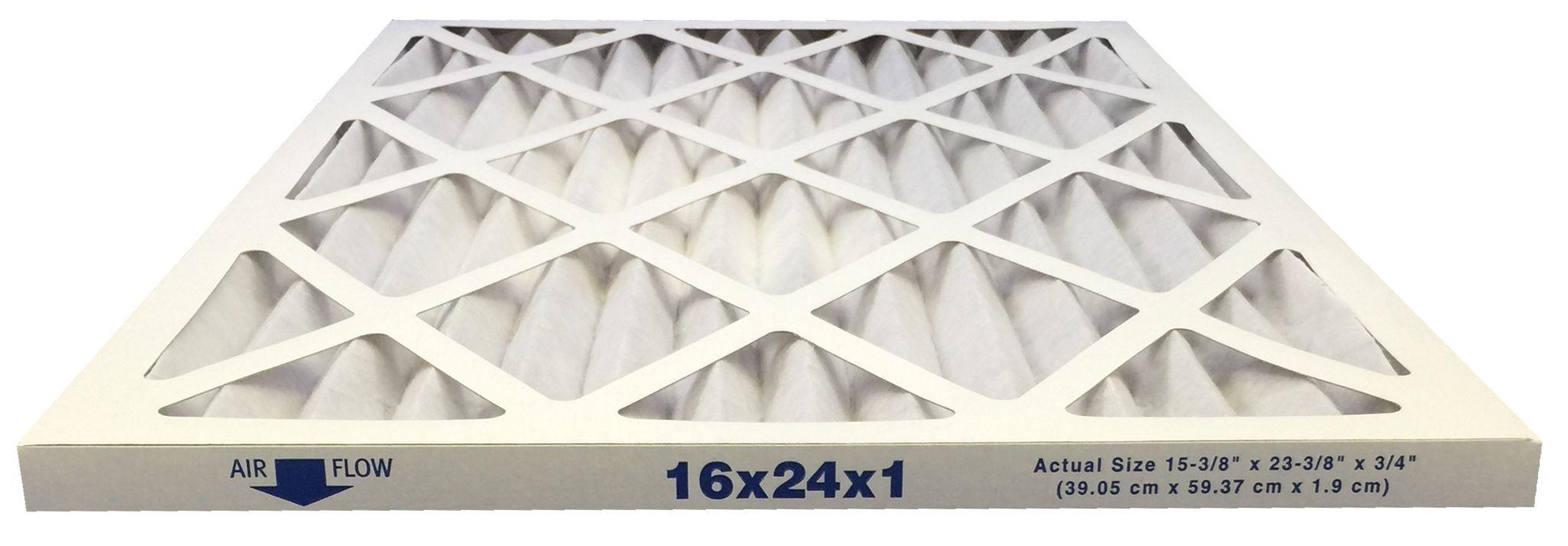 16x24x1 Merv 13 Allergy Elite Pleated Air Filter Case of