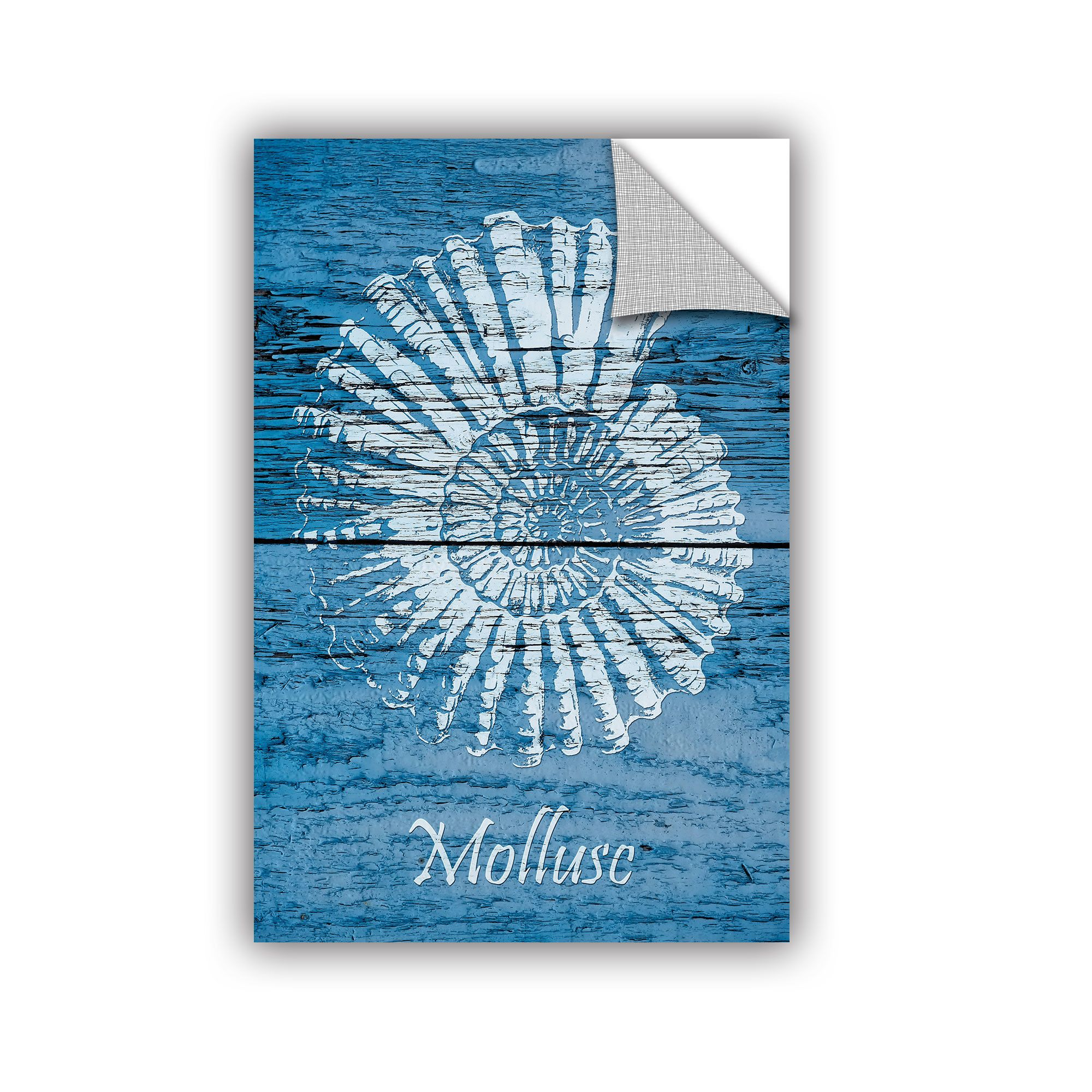 Cora niele blue wood mollusc wall mural wall murals woods and walls