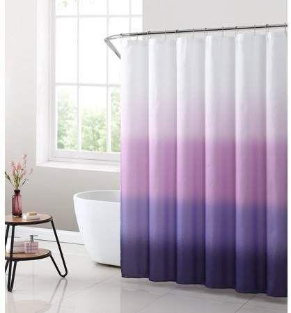 Mainstays Purple Ombre Fabric Shower Curtain 70 X 72 Walmart