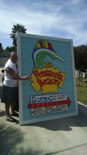 Pensacola Beach sign. Tropical Signs by Holly