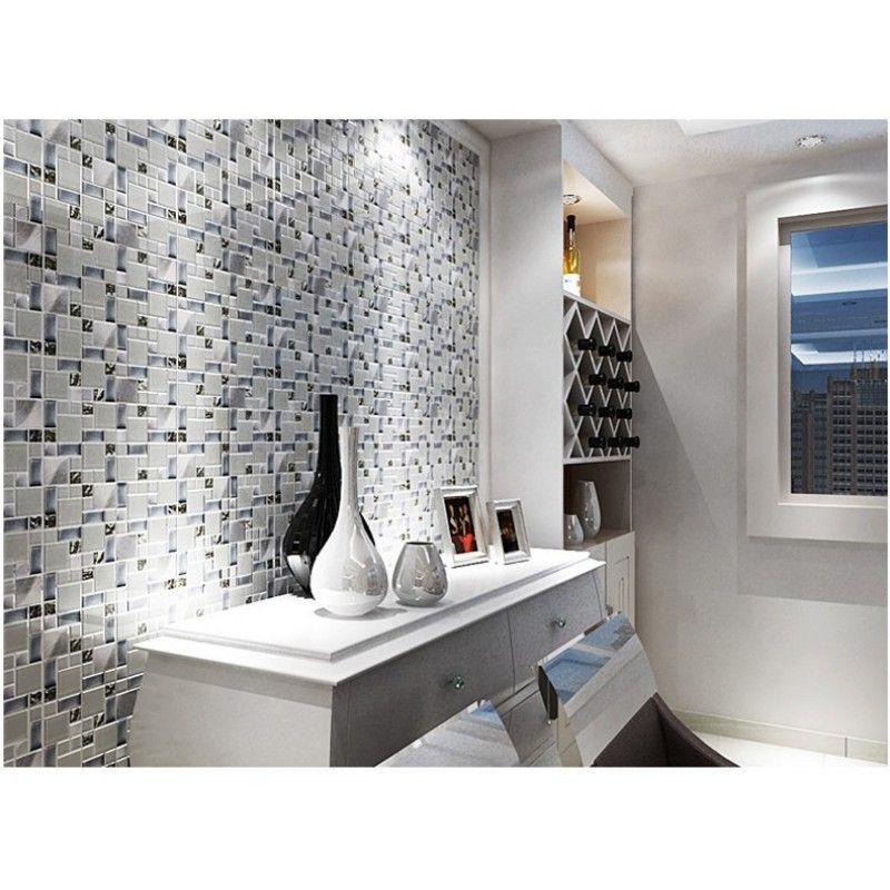 Tst Gl Metallic Tile Super White