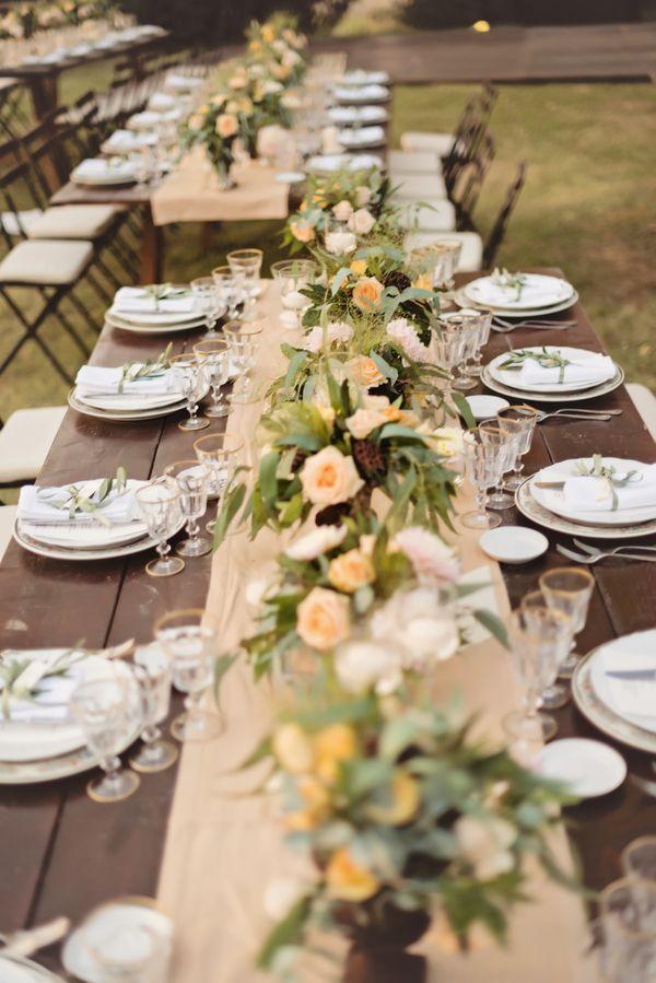 Rustic Romantic Reception Decor Italian Countryside Wedding