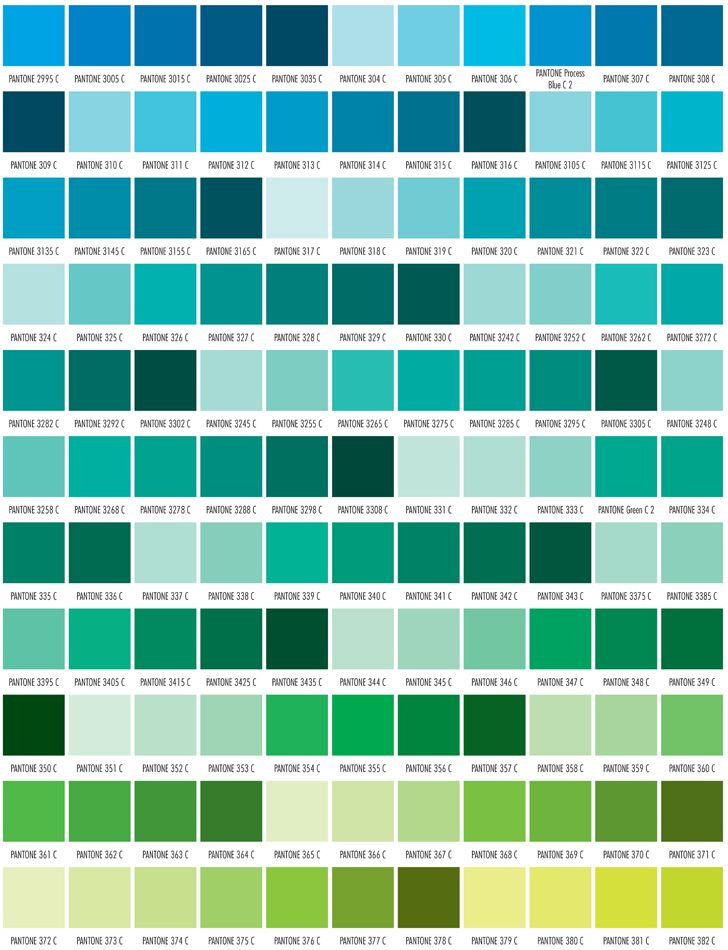 This chart is intended as a reference guide only PANTONE® Colors