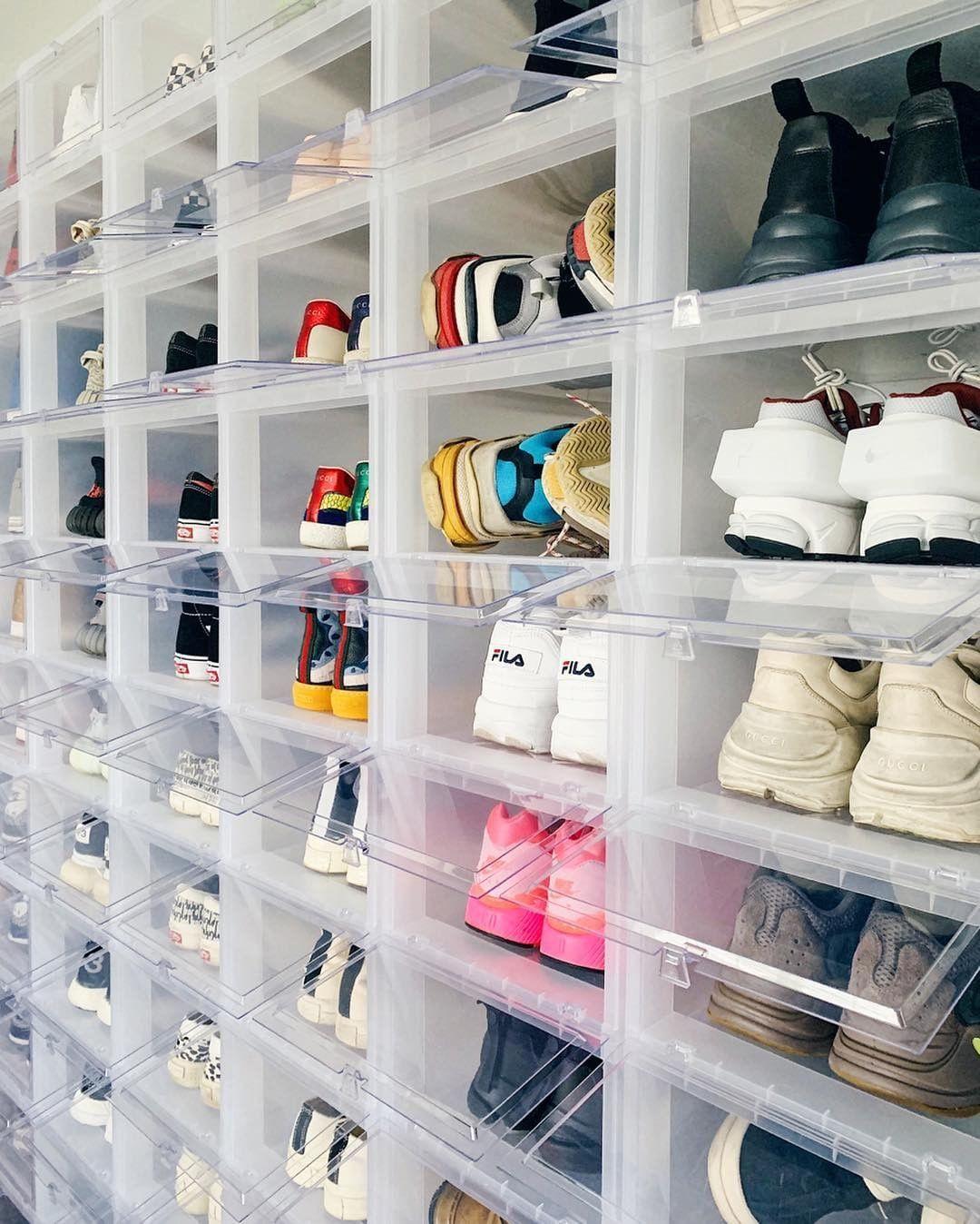 Highsnobiety On Instagram Options Options Options Johnjunglee Garage Storage Bins Storage Boxes Sneakerhead Room