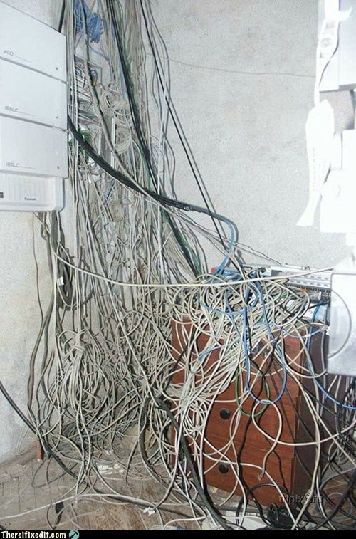wiring mess would love to find the network cable that is. Black Bedroom Furniture Sets. Home Design Ideas