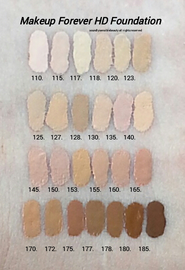 Makeup Forever Hd Foundation Review Swatches Of Shades Makeup Forever Hd Makeup Forever Hd Foundation Makeup Forever Foundation