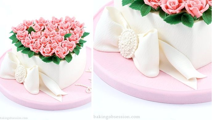 Valentine S Cakes Tutorials Heart Shaped Cakes Heart Shape Cake Design Valentine Cake