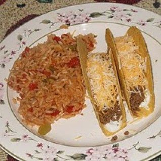 The other day, I forgot to put a meal in the crock pot, so I had to figure out something else to make.  I decided on Frugal Soft Tacos.  This meal is pretty easy because I had precooked and seasoned my taco meat.  All I had to do was take it out and heat it up.  Tacos alone never fill my family up, so I like to make Spanish rice to go with the meal.  I usually use Rice-a-Roni that I find on sale.  When I looked in my pantry though, I found none in it. So I decided to go searching for a…