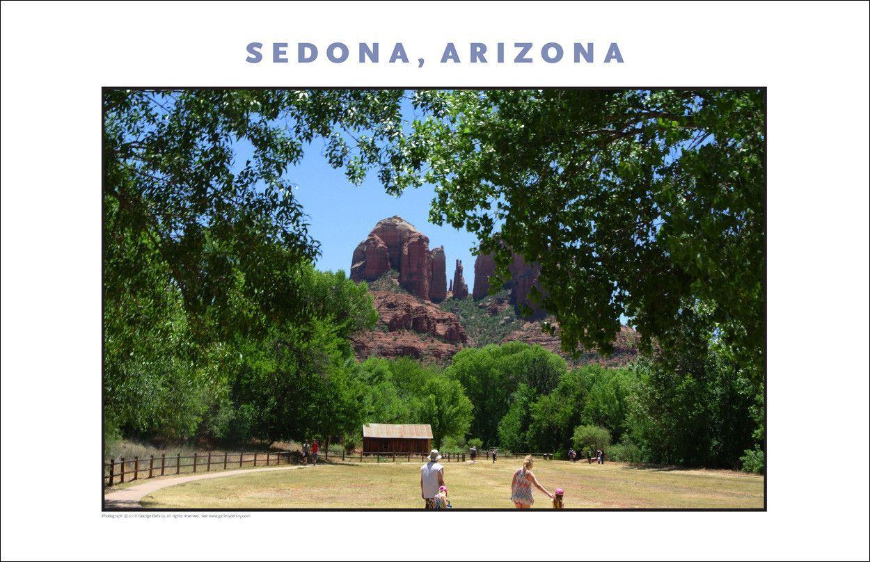 Landscape at Crescent Moon Ranch near Sedona AZ Photo Wall Art #1145