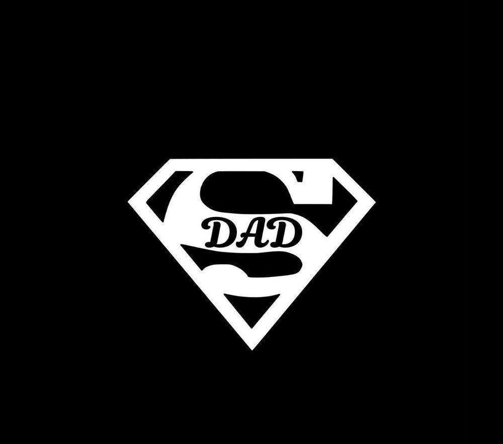 Super Dad Superman Symbol Vinyl Decal Sticker Car Fashion Home Garden Homedcor Decalsstickersvinylar Vinyl Decal Stickers Vinyl Decals Stick Figure Family [ 882 x 1000 Pixel ]