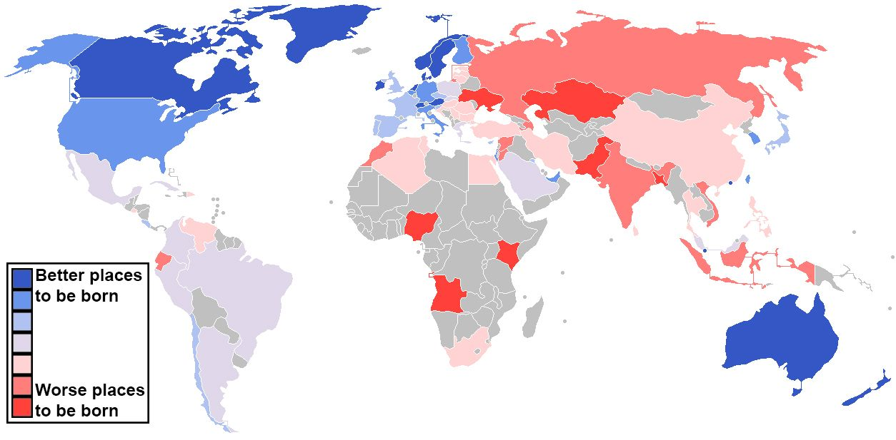 A revealing map of the countries that are most and least tolerant of - best of world map countries picture
