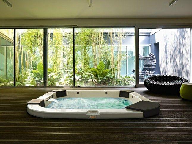 Delos Spa à Encastrer By Jacuzzi Europe Design Dna Kaluderovic Condini Indoor Hot Tub Hot Tub Room Indoor Jacuzzi