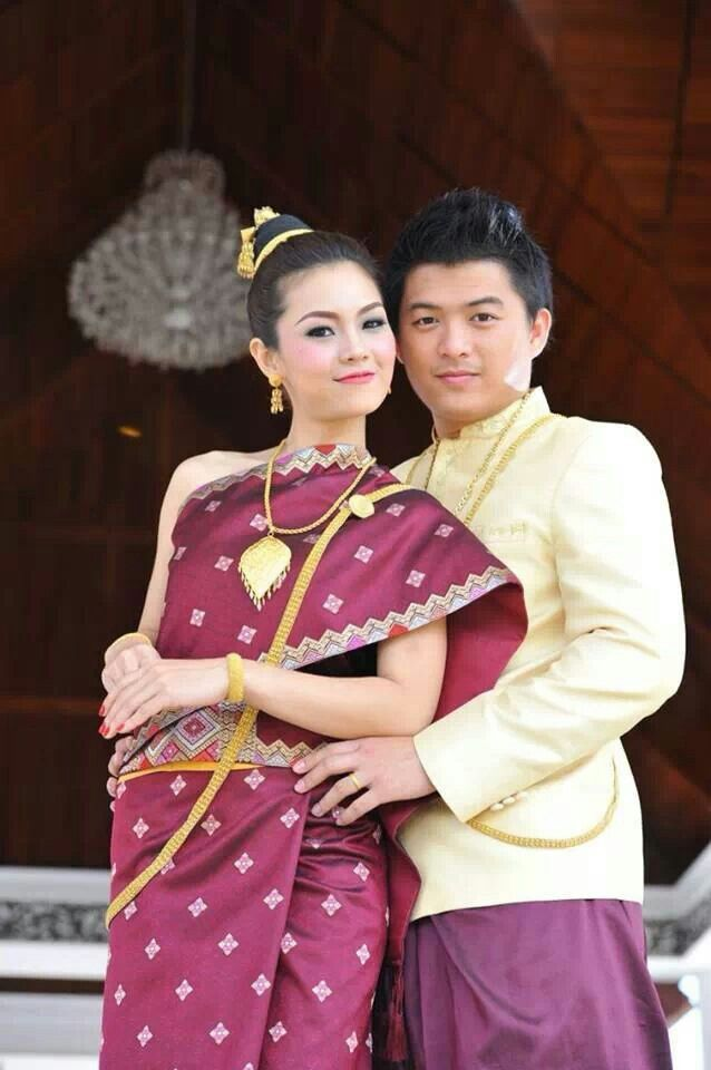 Lao Traditional Clothes Traditional Lao Weddingclothing Laos