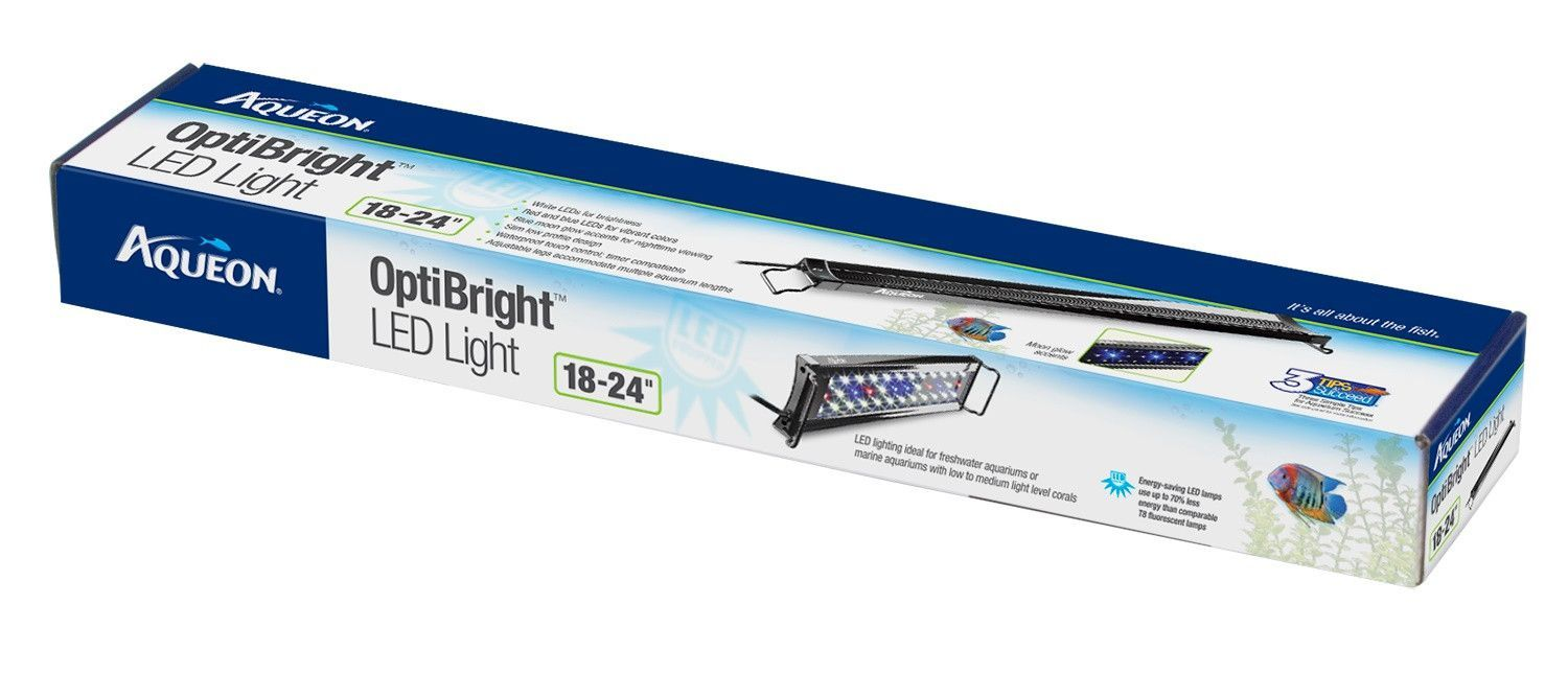 Aqueon Optibright Led Aquarium Light Fixture 18 24