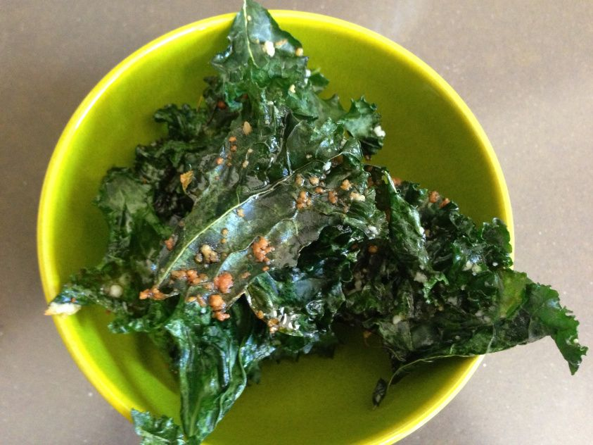 """Kale """"chips"""" for something salty"""