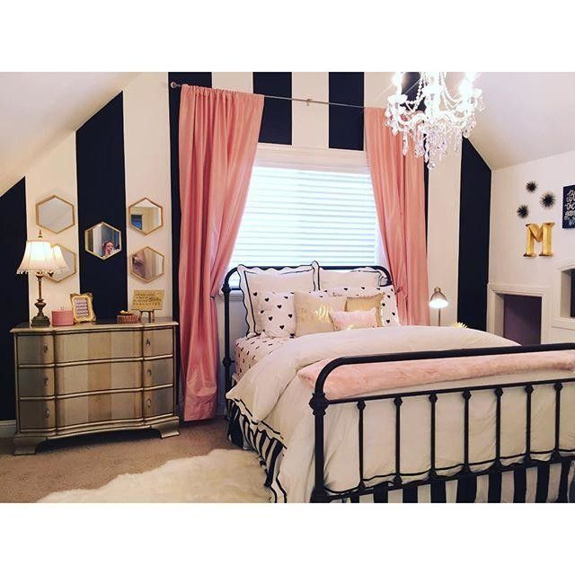 Image result for black and white kate spade bedroom | Wishlist ...