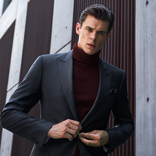 Master the Turtleneck With Suit Look