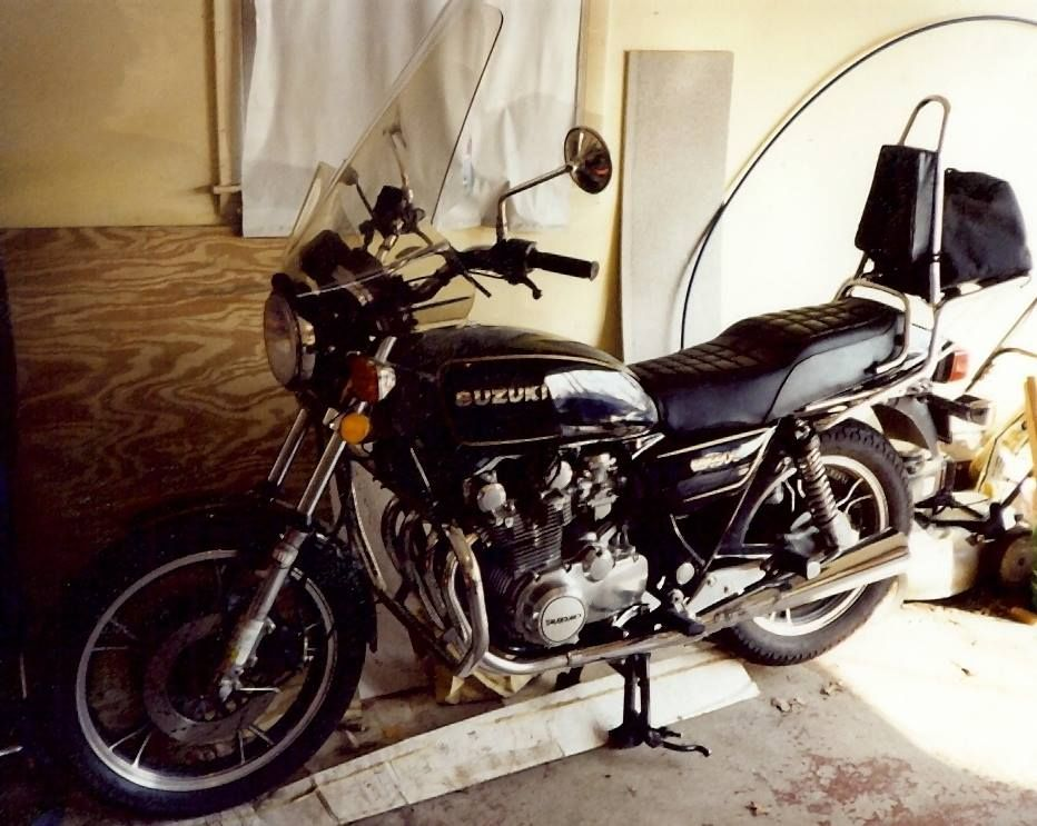 My Suzuki 650 G, I bought this bike after I got out of school around the summer of 1988. it was a great bike, but NY had such short summers, that most of the year it was in storage.