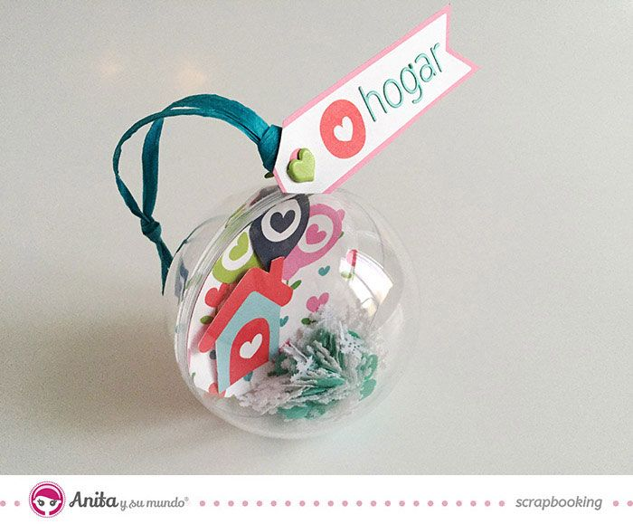 9a7b11bcc91 bolas de navidad transparente decorada con papel