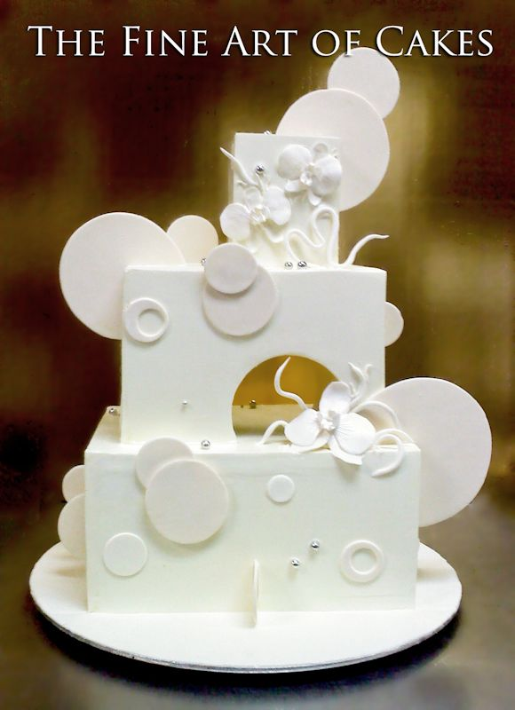 Modern Wedding Cake Turn into birthday cake with different color