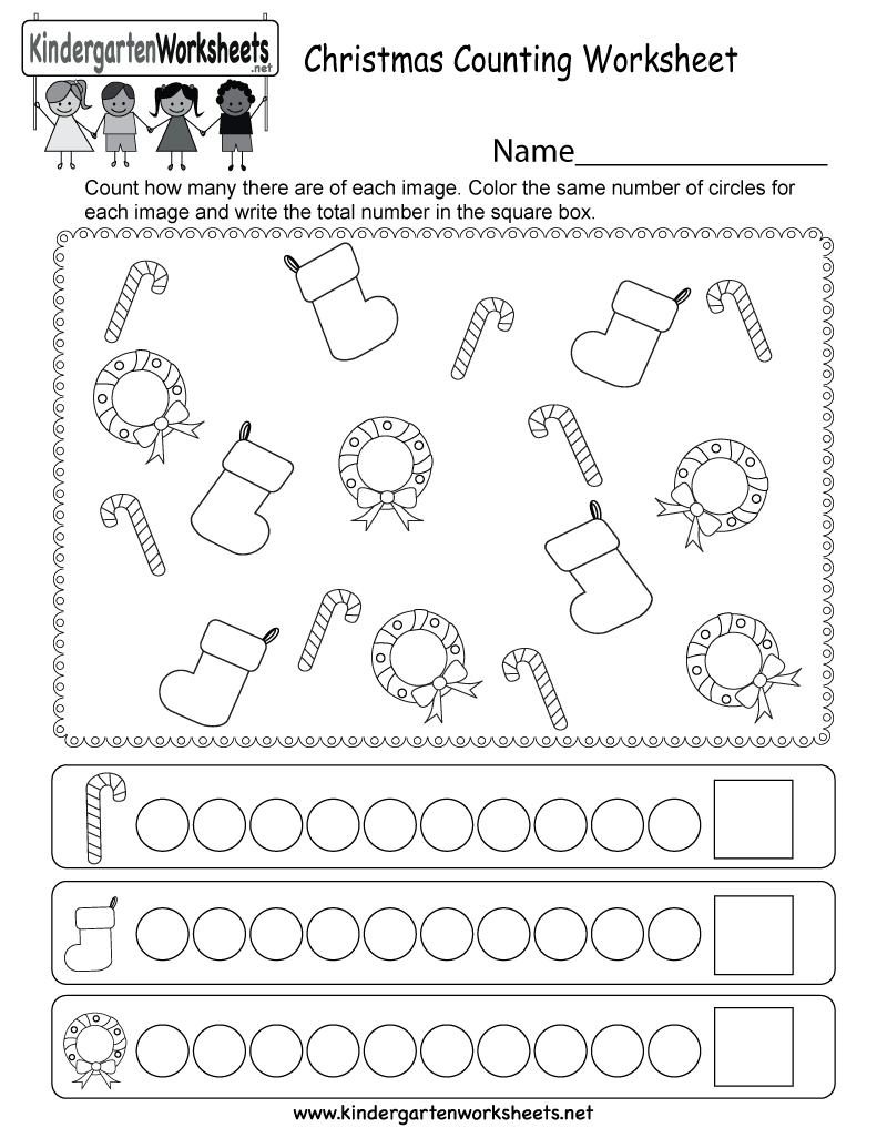 kids can count christmas stockings wreaths and candy canes in this free kindergarten worksheet. Black Bedroom Furniture Sets. Home Design Ideas