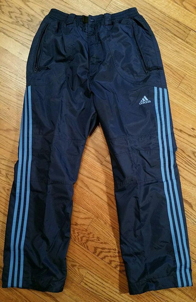 862cab8401408 Adidas Blue Track nylon Pants Running Jogging Exercise Training Men's  Medium #Adidas #Pants