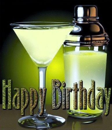 Happy Birthday Wine Champagne Cocktail Tint 1 Happy