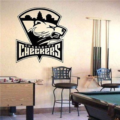 Charlotte Checkers Logo Emblem AHL Hockey Wall Art Sticker Decal (S451)