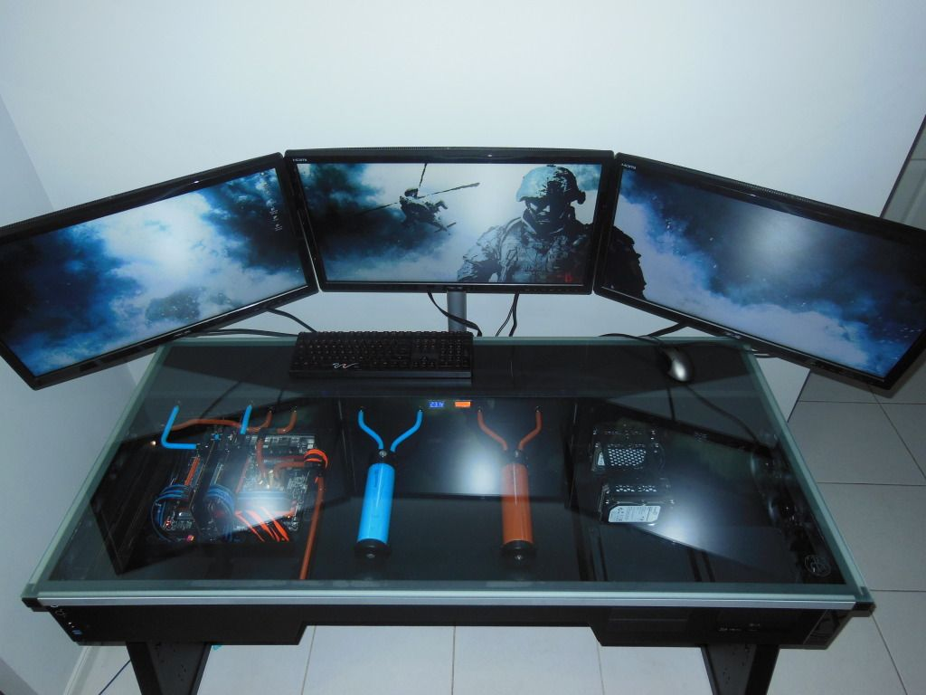 Pin By Adam Metzger On Gaming Pc Pc Desk Computer Desk Built In Computer Desk