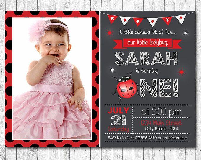 Ladybug Invitation Ladybug Invite 1st birthday Ladybug birthday