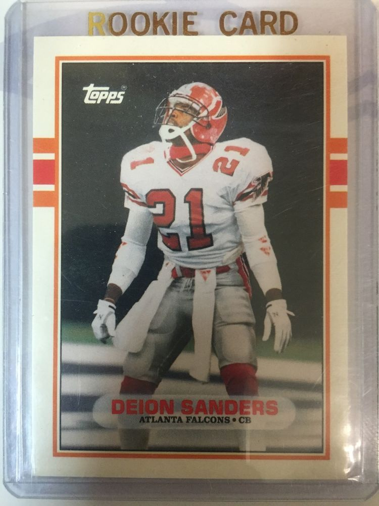 1989 topps traded deion sanders rookie hof from 099