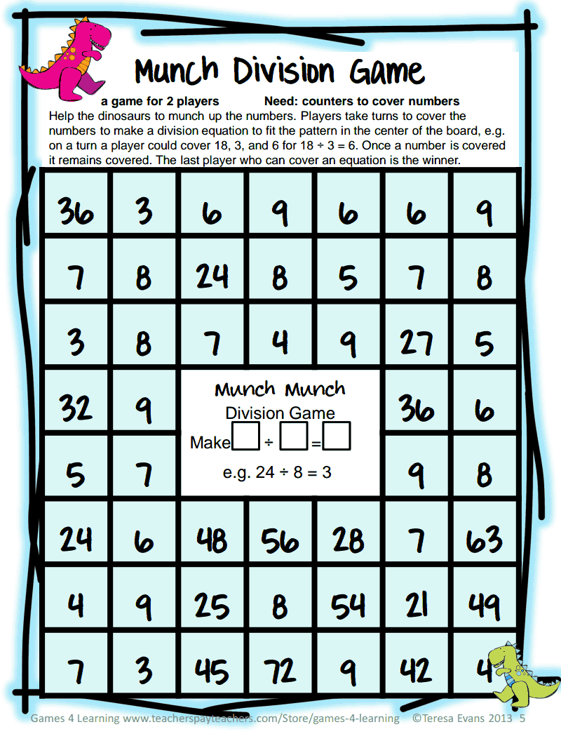 Math Games Teacher Appreciation Gift.pdf | Multiplication ...