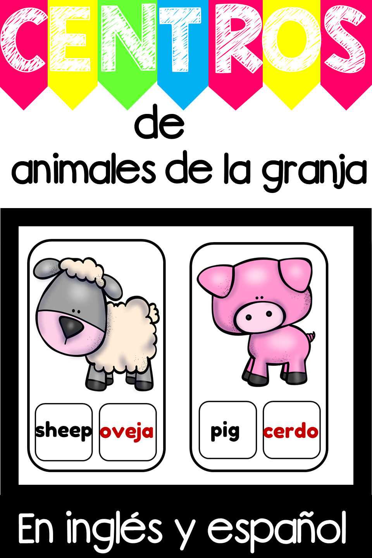 Tarjetas De Vocabulario Los Animales De La Granja En Ingles Y Espanol Teaching Vocabulary English Language Learners Language Learners