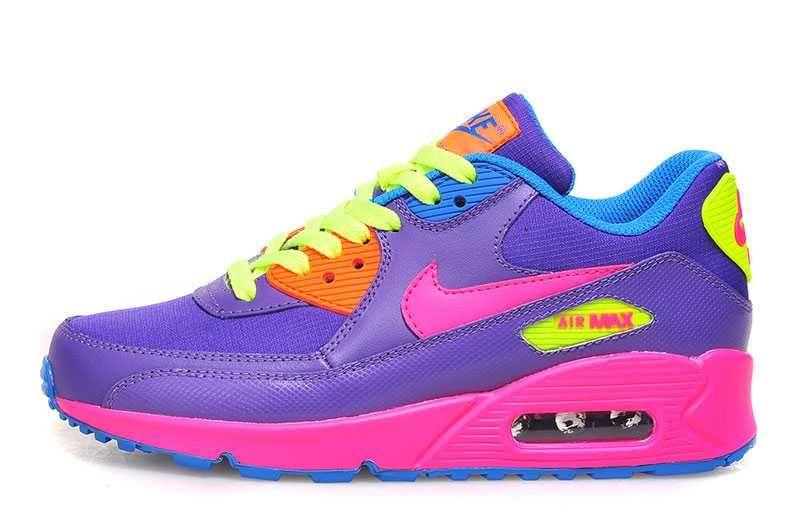 1767 Nike Air Max 90 Dam Rosa Gul Lila Rosa Se301553blmjzpha