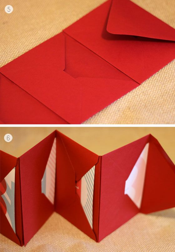 Envelope book.  just glue envelopes together. cute