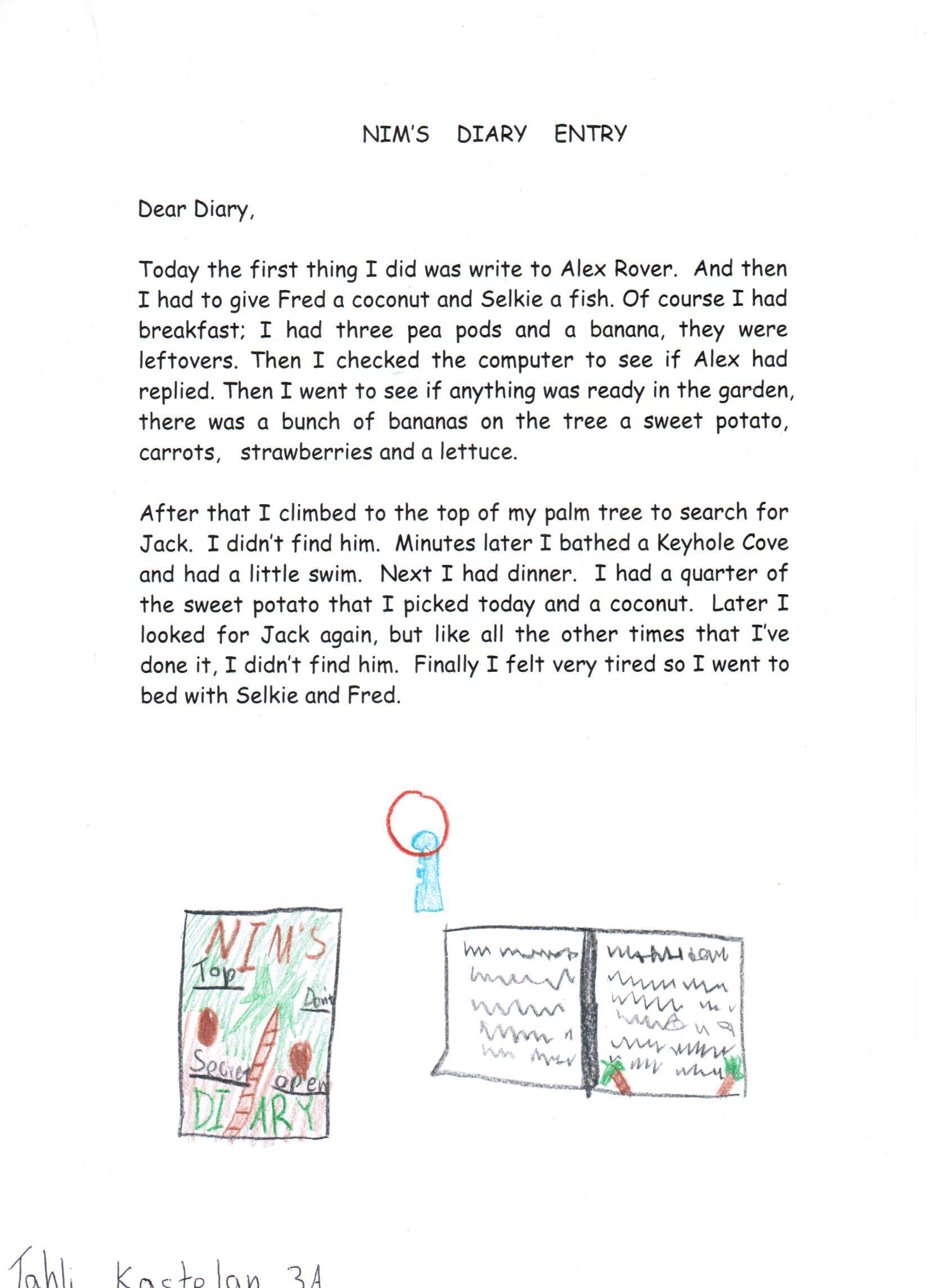 Diary Writing For Nim S Island