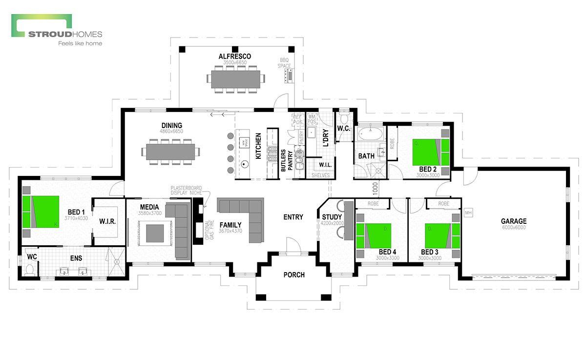 Hudson 278 Floor Plan Stroud Homes House Design Bedroom House Plans