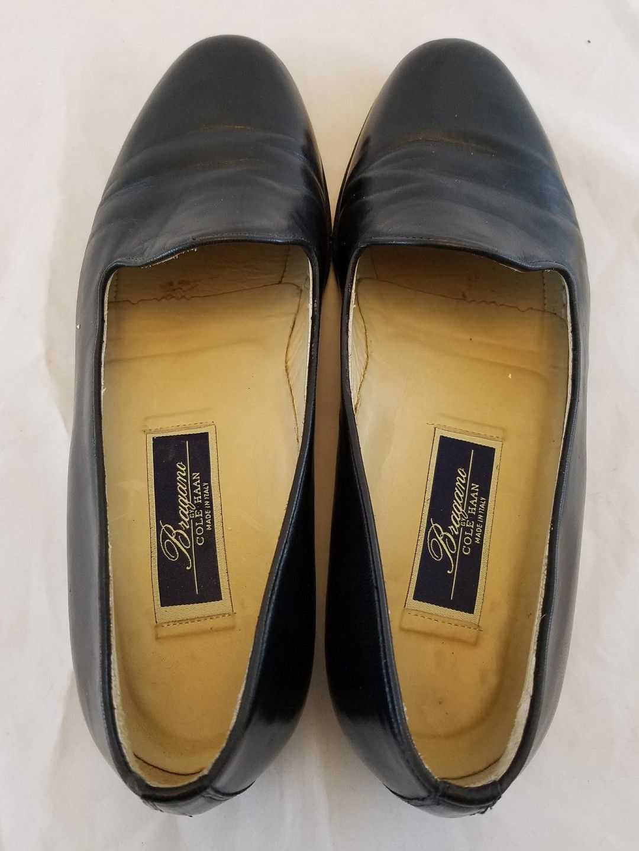 58266a6c01f Men s 9M Elegant Cole Haan Bragano Low Vamp Loafer Black Calfskin Handmade